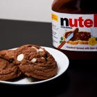 Nutella Cookies w/White Chocolate Chips