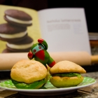 UFO's - Gluten-Free Whoopie Pies with Matcha Frosting